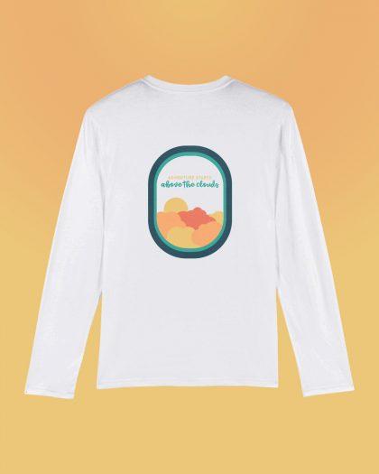 Adventure Starts 100% Men's Organic long sleeves shirt Orrojo White