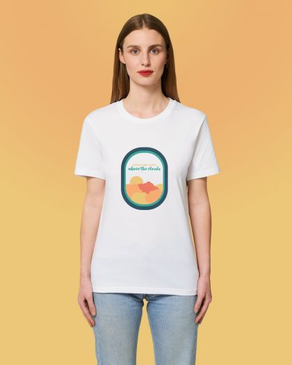 Adventure Starts 100% Organic Woman T-shirt Orrojo White