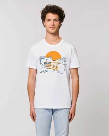 searenity organic cotton tshirt man orrojo white