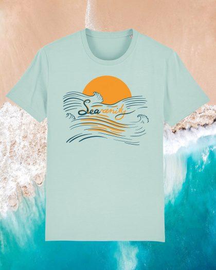 searenity organic cotton tshirt orrojo blue