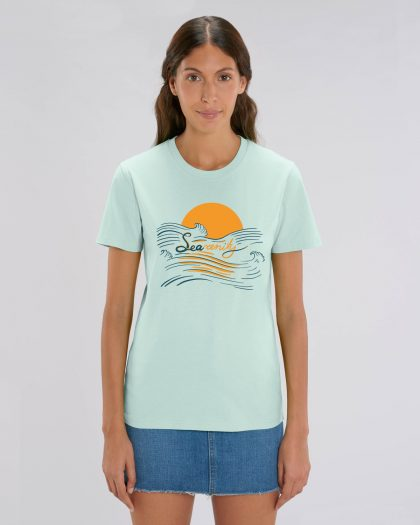 searenity organic cotton tshirt woman orrojo blue