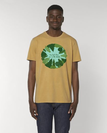 the best days premium organic cotton vintage tshirt man orrojo ocre