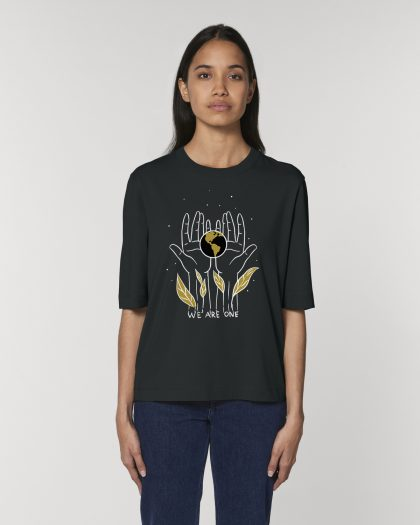 we are one organic cotton tshirt orrojo