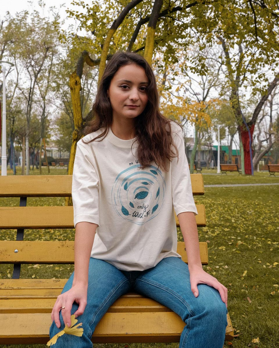 wild-fi premium organic cotton tshirt woman orrojo white