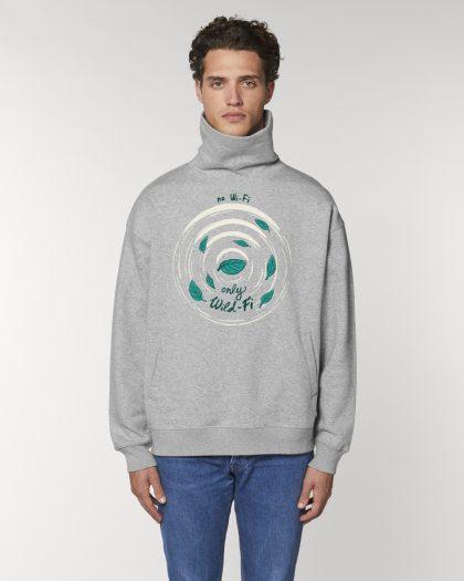 wild-fi organic cotton hoodie man orrojo