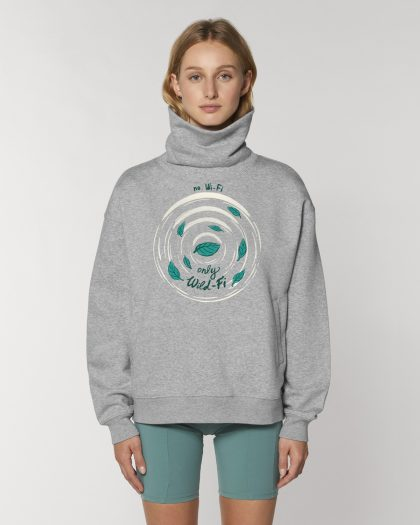 wild-fi organic cotton hoodie woman orrojo