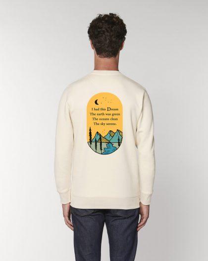 i had this dream organic cotton sweatshirt man orrojo white