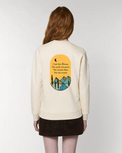 i had this dream organic cotton sweatshirt woman orrojo white