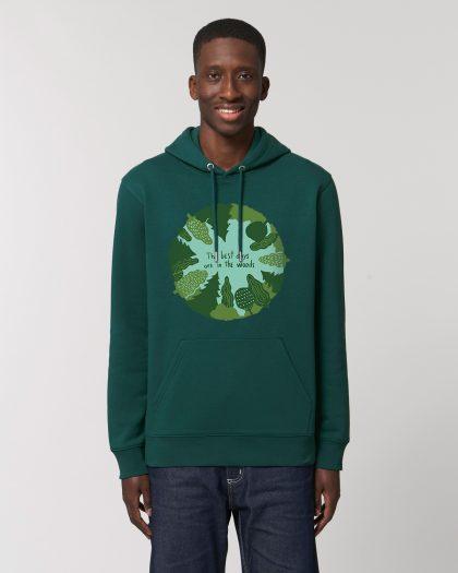 the best days organic cotton vintage hoodie man orrojo green
