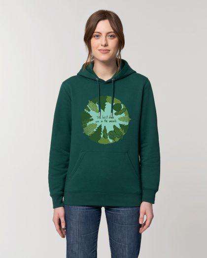 the best days organic cotton vintage hoodie woman orrojo green