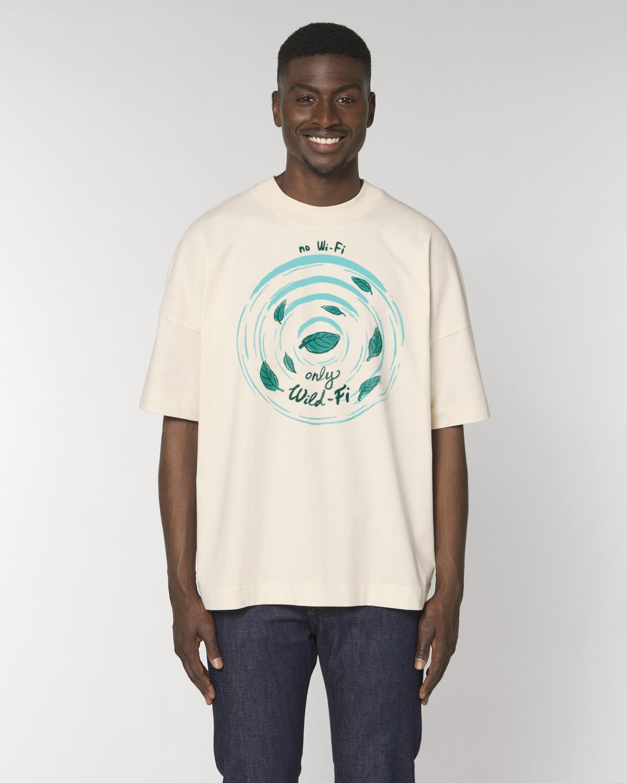 wild-fi premium organic cotton tshirt man orrojo white