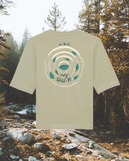 wild-fi premium organic cotton tshirt woman orrojo sage green