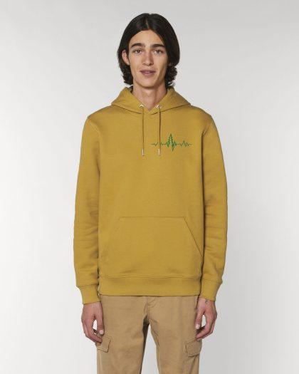 heartbeat organic cotton hoodie man orrojo