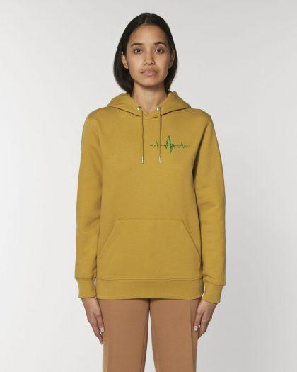 heartbeat organic cotton hoodie woman orrojo