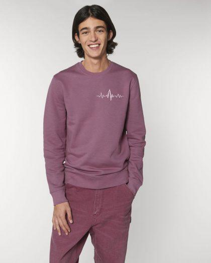 heart organic cotton sweatshirt man orrojo