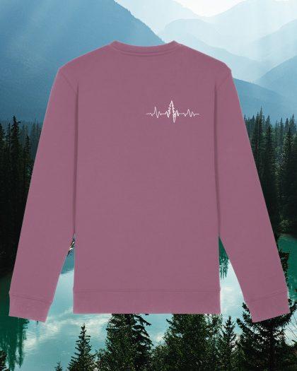 heart organic cotton sweatshirt orrojo
