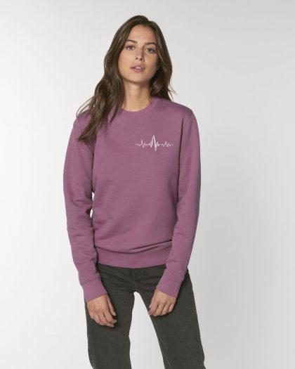 heart organic cotton sweatshirt woman orrojo