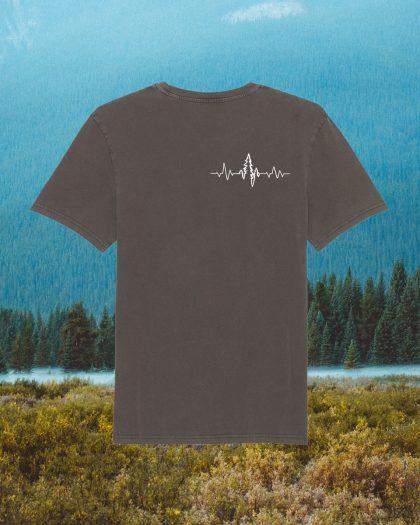 heartbeat organic cotton tshirt orrojo brown