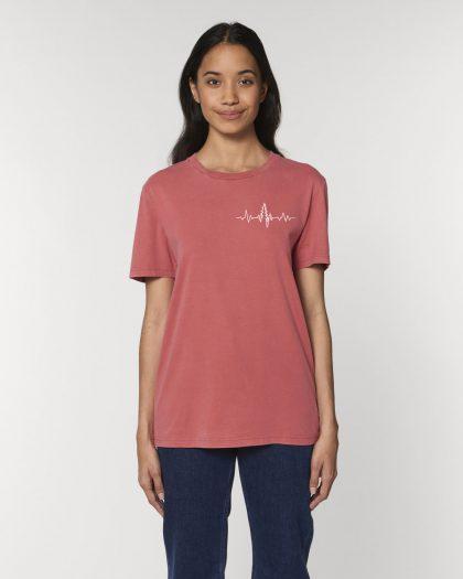 heartbeat organic cotton tshirt woman orrojo pink