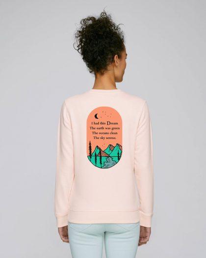 i had this dream organic cotton sweatshirt woman orrojo pink